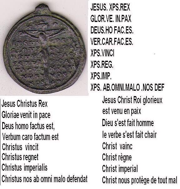 Médaille Jésus & Ste-Thérèse-d'Avila - XVIIème Jasus_10