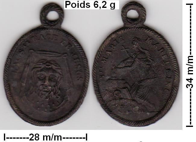 Médaille Ste-Face de Jésus - début XVIIIème  Ste_fa12