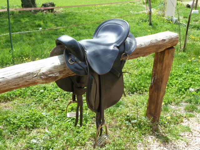 A vendre : Selle de randonnée GUICHARD + tapis feutre GUICHARD P1010310