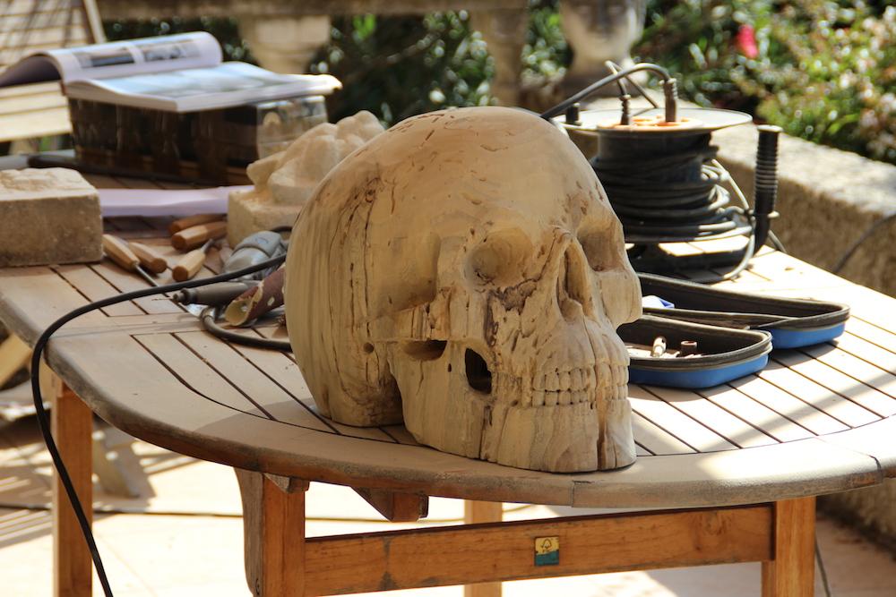 Crâne en micocoulier échelle 2 Img_2112
