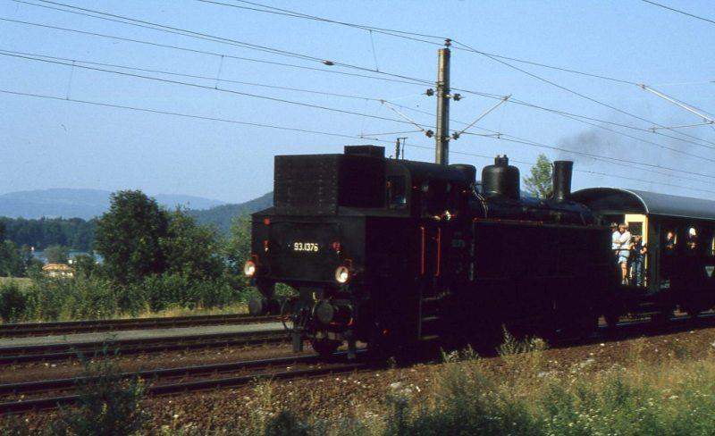 Museumszug Jesenice am 6.August 1987 87-08-15