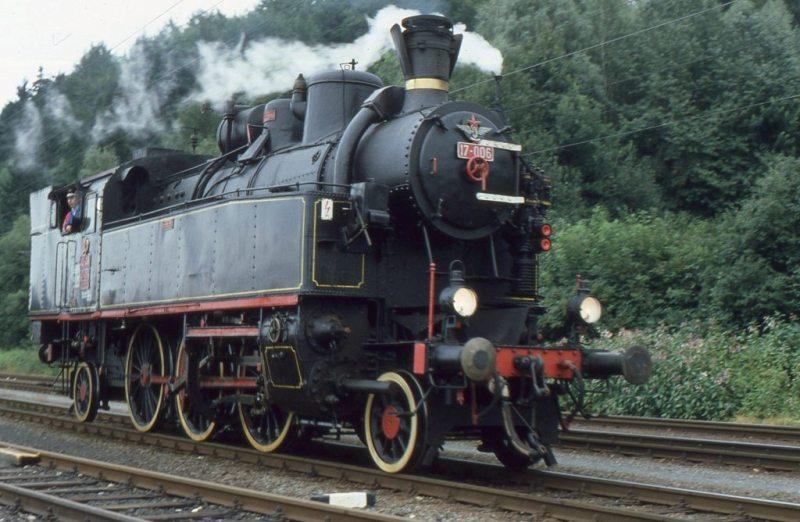 Museumszug Jesenice am 6.August 1987 87-08-17