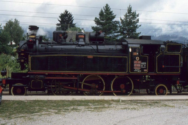 Museumszug Jesenice am 6.August 1987 87-08-19