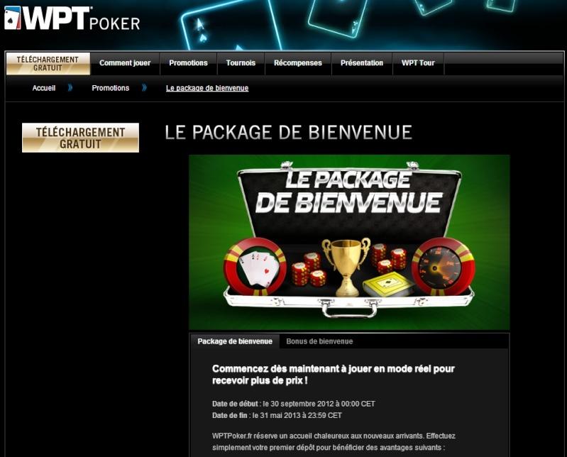 WPT POKER: 3000€ de freeroll et un bonus exceptionnel pour les nouveaux joueurs ! 110