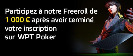 WPT POKER: 3000€ de freeroll et un bonus exceptionnel pour les nouveaux joueurs ! 13022110