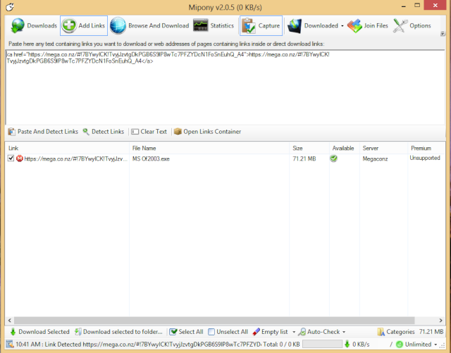 Mipony v2.0.5 Trình quản lý download ưa chuộng 110