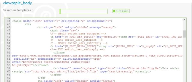 Thêm nút google +1 cho từng bài vào phpbb 113