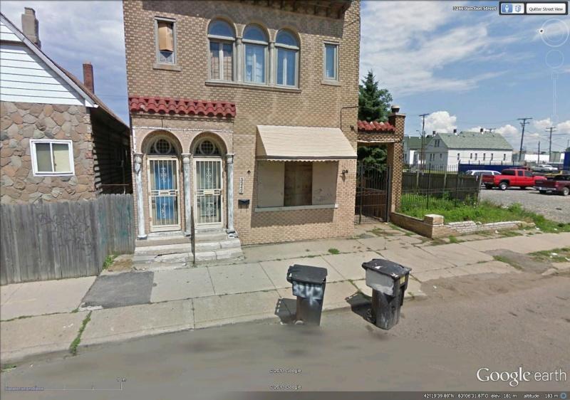Street View : Deux portes, une maison - Détroit - USA Poub10