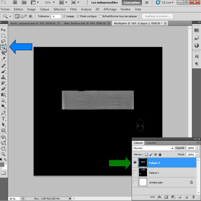 [Intermédiaire]Création des Mutiplier,Specular & Mask avec Photoshop au format DDS Psp-1110