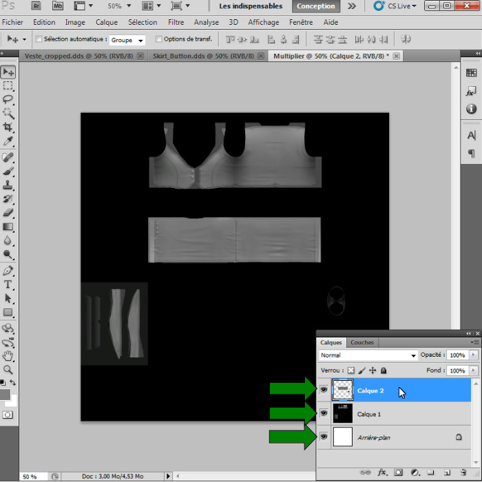 [Intermédiaire]Création des Mutiplier,Specular & Mask avec Photoshop au format DDS Psp-1610
