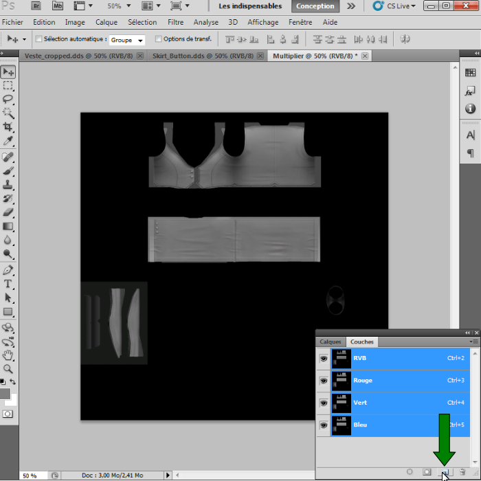 [Intermédiaire]Création des Mutiplier,Specular & Mask avec Photoshop au format DDS Psp-2010