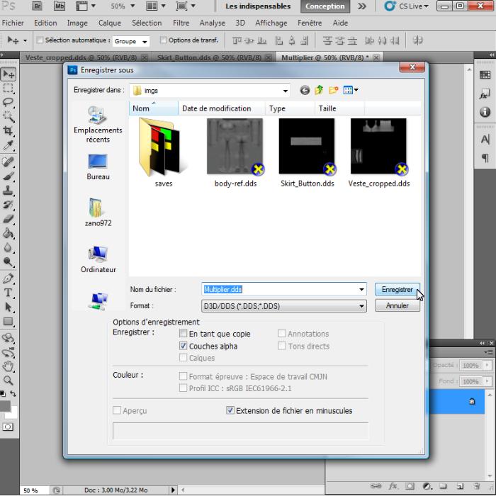 [Intermédiaire]Création des Mutiplier,Specular & Mask avec Photoshop au format DDS Psp-3410