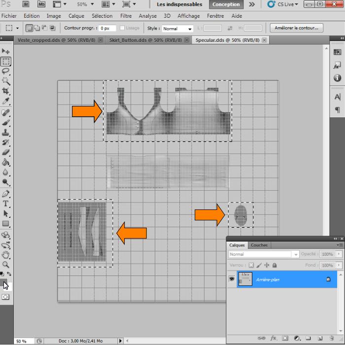 [Intermédiaire]Création des Mutiplier,Specular & Mask avec Photoshop au format DDS Psp-4110