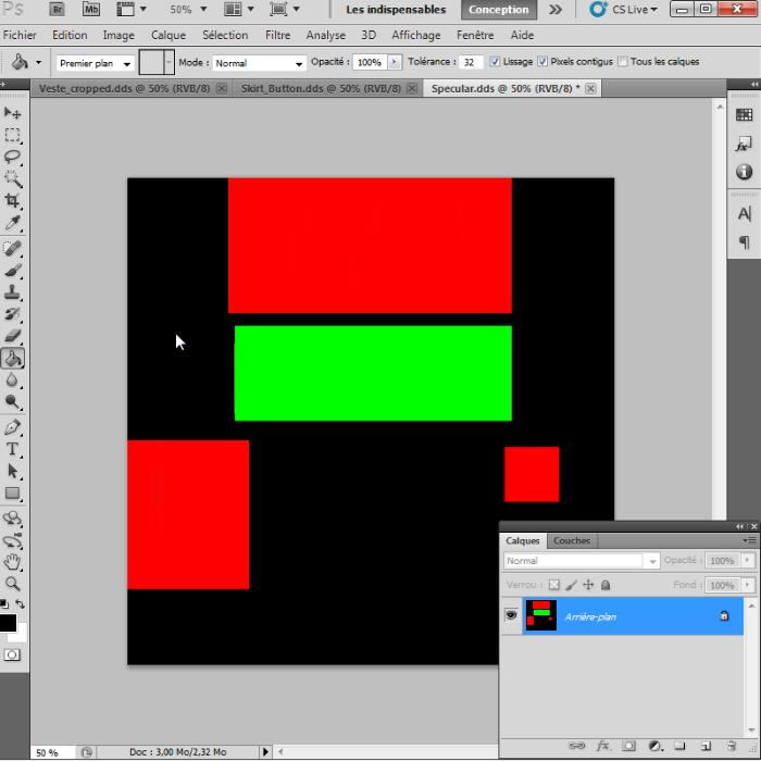 [Intermédiaire]Création des Mutiplier,Specular & Mask avec Photoshop au format DDS Psp-4310
