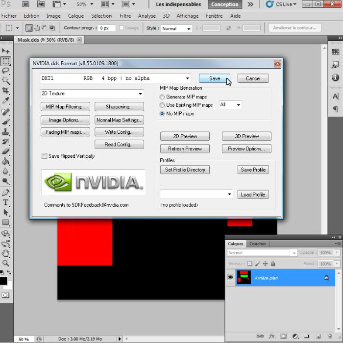 [Intermédiaire]Création des Mutiplier,Specular & Mask avec Photoshop au format DDS Psp-4410
