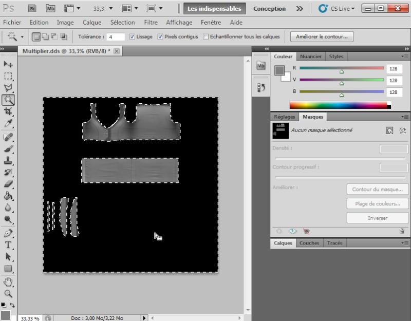 [Intermédiaire]Création des Mutiplier,Specular & Mask avec Photoshop au format DDS Psp-5010