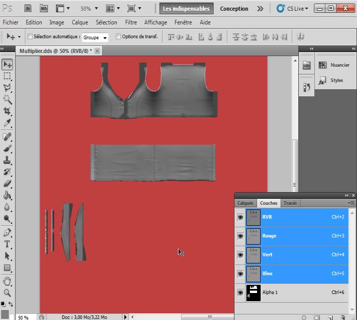 [Intermédiaire]Création des Mutiplier,Specular & Mask avec Photoshop au format DDS Psp-6010