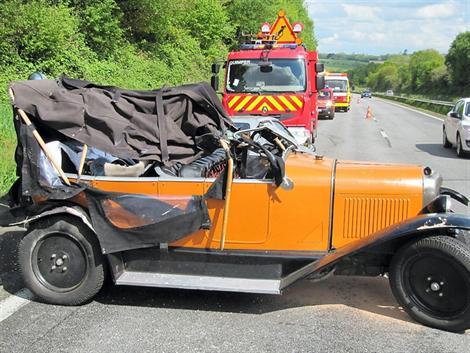 Triste accident pour une Citroën B3 B310