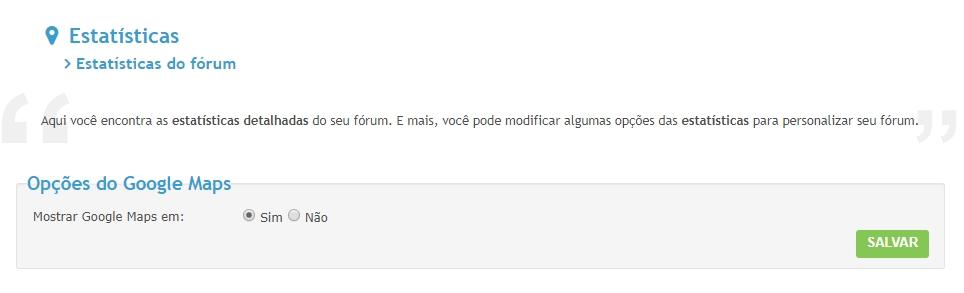 """Remoção do Google Maps da função """"Quem está online?"""" dos fóruns Removi10"""