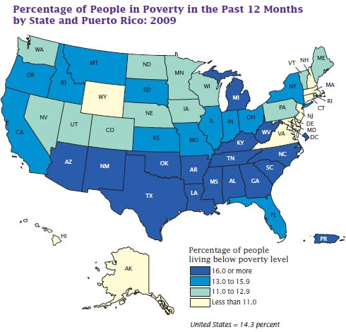 Choosing A Good State To Live MAPS Povert10