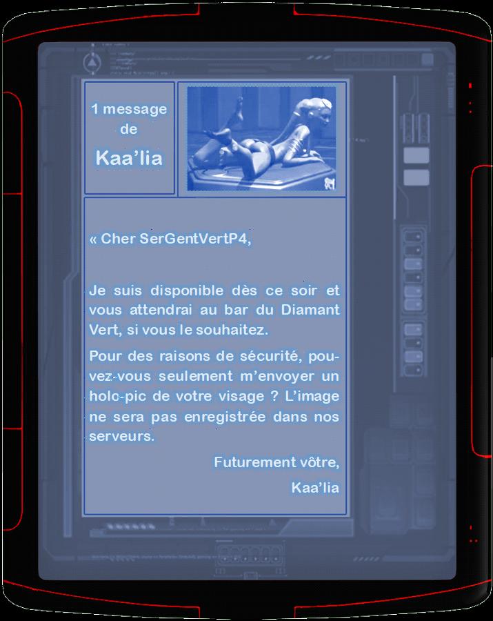"""[18+] """"Vous vous apprêtez à envoyer un message à Kaa'lia"""" Baalia10"""