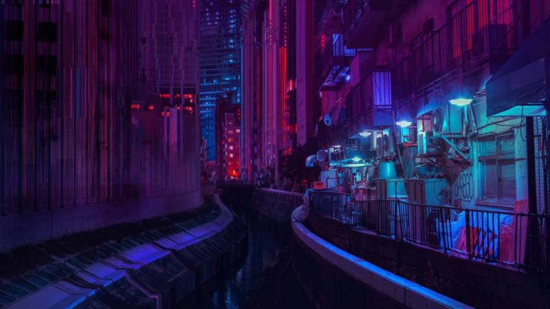 Dans le Tokyo cyberpunk de Liam Wong -liamw10