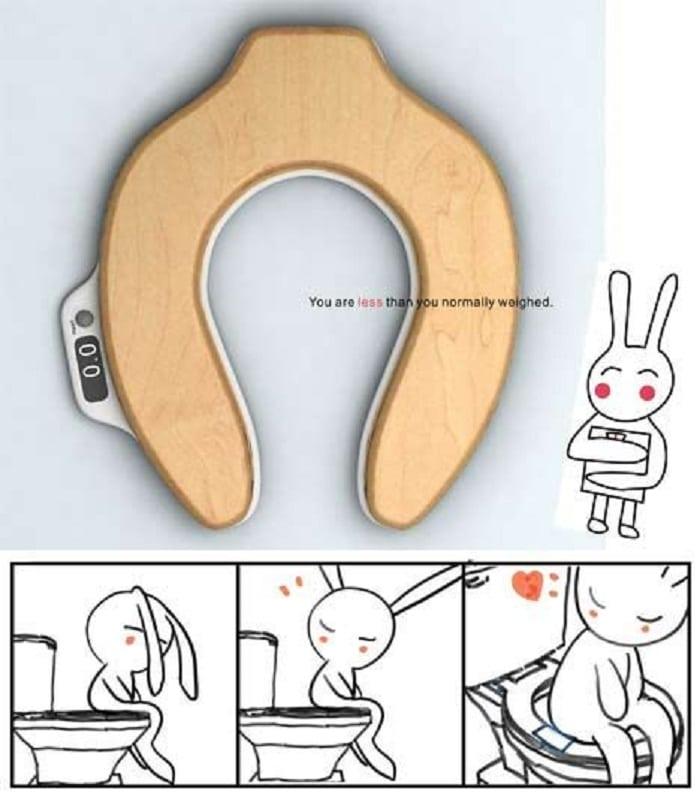 Découvrez ce siège de toilette qui mesure directement le poids de votre caca Siege-10