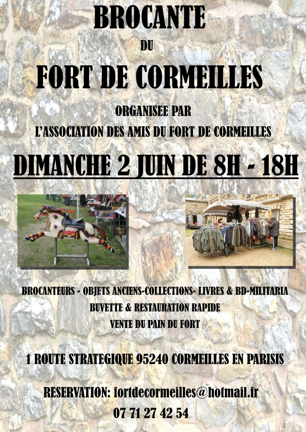 Brocante-bourse du fort de Cormeilles (95) – 2 Juin 2019 Brocan10