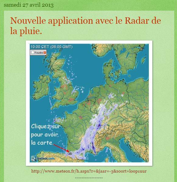 Le Radar de la pluie Captur10