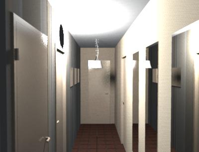 Relooker Un Couloir déco du couloir en l sol sombre