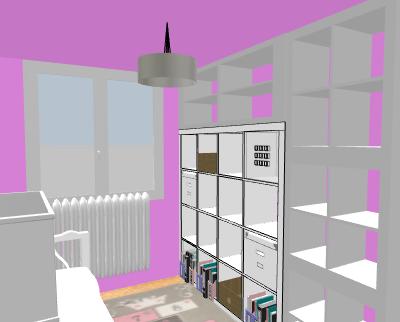 aménagement / déco bureau chambre d'amis Profde12