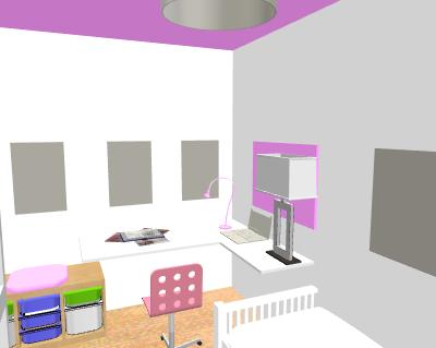 aménagement / déco bureau chambre d'amis Profde14