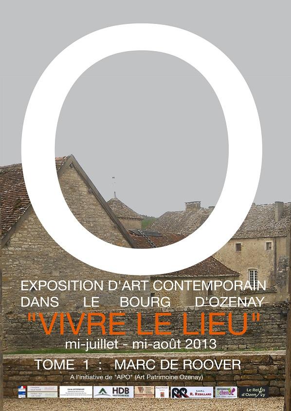 Art Contemporain à  OZENAY Marc de ROOVER  12 juillet 15 août  Affich10