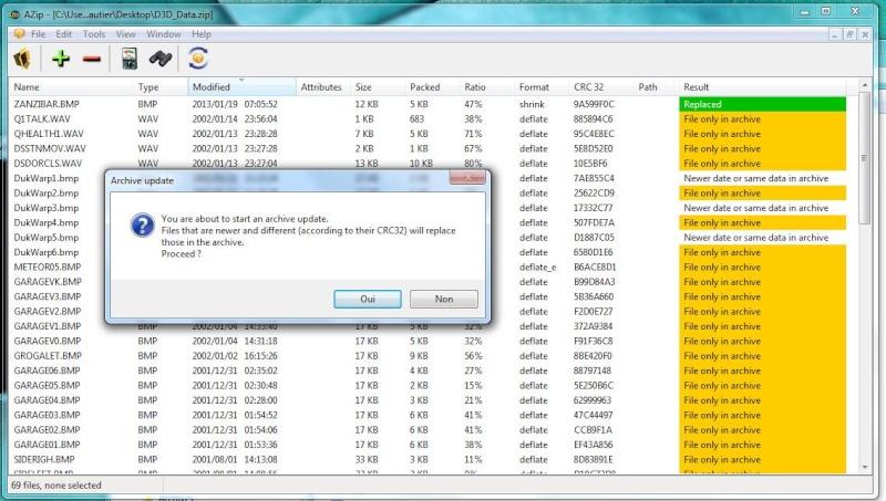 AZip 1.21 - Zip archive manager, εύκολο στη χρήση Azip_u10