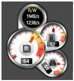 Windows 8 CPU Meter 1.1 - Παρακολουθήστε τη χρήση της CPU και του HD από την επιφάνεια εργασίας σας Cpu_me11