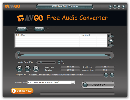 AVGO Free Audio Converter 1.05.3 - Ένα απλό και προσιτό Audio Converter Free-a10