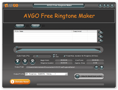 AVGO Free Ringtone Maker 1.03.1 -  Δημιουργήστε ringtones από αρχεία βίντεο Free-r10