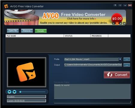 AVGO Free Video Converter 1.03 Free-v10
