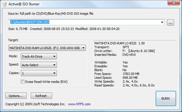 CD & DVD Tools Iso-bu10