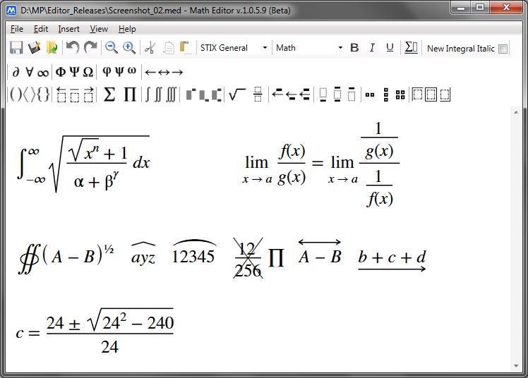 Math Editor 1.0.6.1 - Ένα απλό εργαλείο για την επεξεργασία εξισώσεων Mathed10