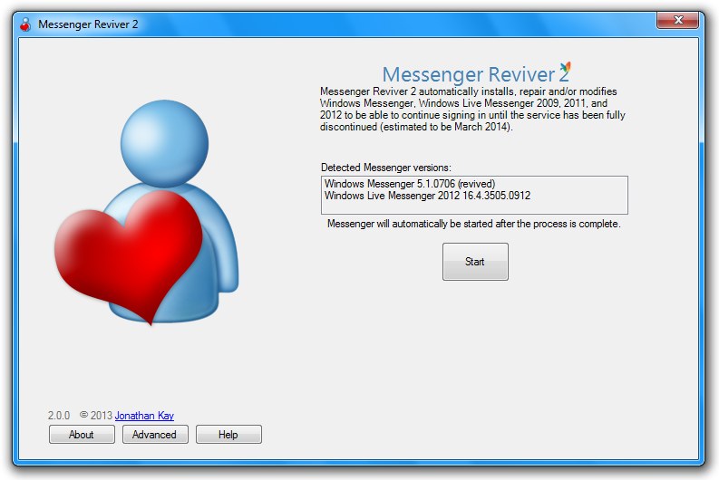 Messenger Reviver 2.3.5 - Φέρνει πίσω το Windows Live Messenger! Messen10