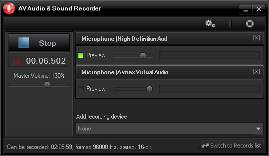 AV Audio & Sound Recorder 1.0.4 Record10