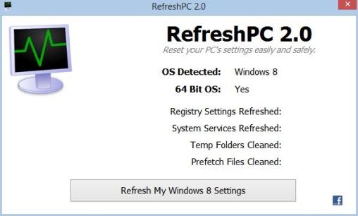 RefreshPC 2.0 - Επαναφορά των ρυθμίσεων του υπολογιστή σας εύκολα και με ασφάλεια Refres10