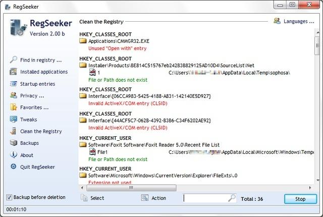 RegSeeker 2.57 Regcle10