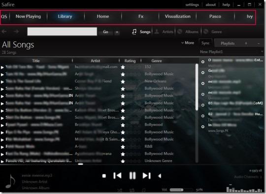 Safire 1 - Πολύ καλό νέος Audio Player Safire10