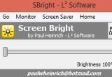 SBright 1.0.0.0 - Ρυθμίστε τη φωτεινότητα της οθόνης σας Sbrigh10