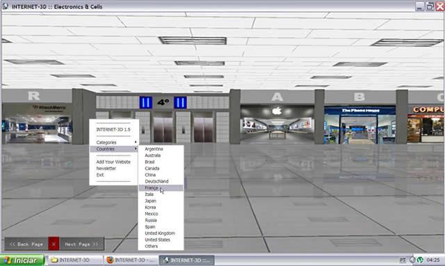 INTERNET-3D 1.5 - 3D πρόγραμμα περιήγησης  Scr510