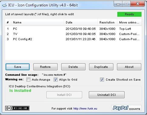 Icon Configuration Utility 5.0 - επαναφέρετε τα χαμένα εικονίδια στην επιφάνεια εργασίας σας Scree104