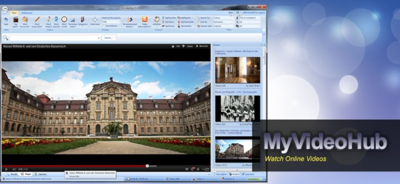 MyVideoHub 1.12 - Παρακολουθήστε βίντεο χωρίς να ανοίξετε ένα πρόγραμμα περιήγησης Scree109