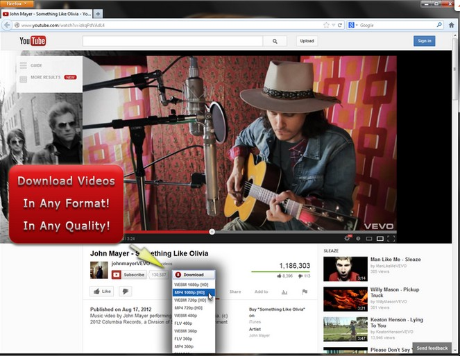 1-Click YouTube Video Download 4.0.92 Scree130